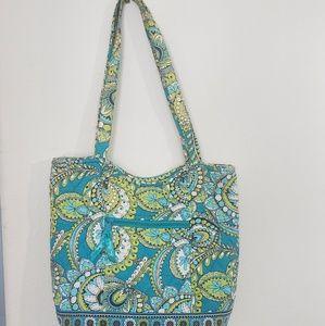Vera Bradley green patterned shoulder bag
